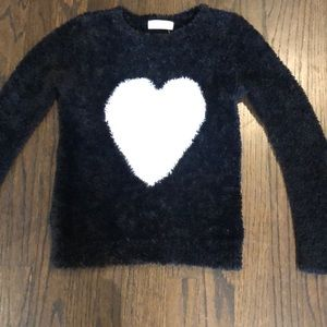 H&M black and white sweater for girls.